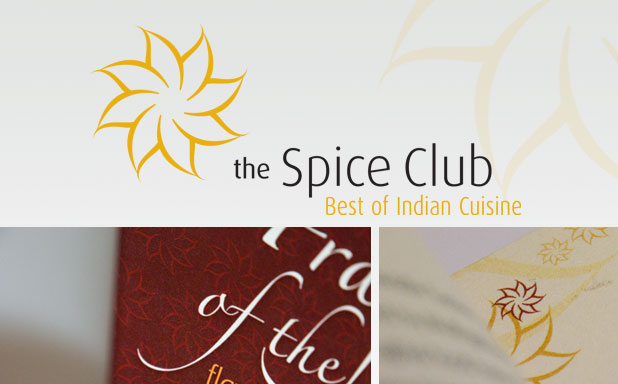 Corporate identity, menus and marketing material for Spice Club.